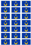 Portsmouth Flag Stickers - 21 per sheet